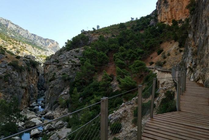 Caminito del Rey path in Spain