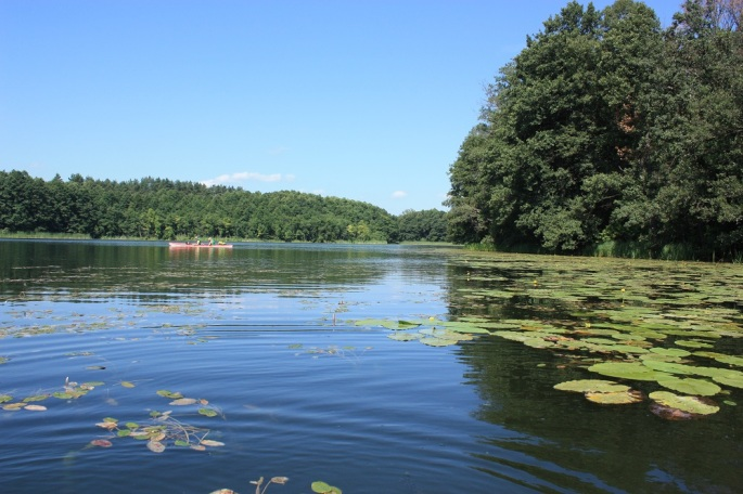 Kayaking on Krutynia river Masuria Poland